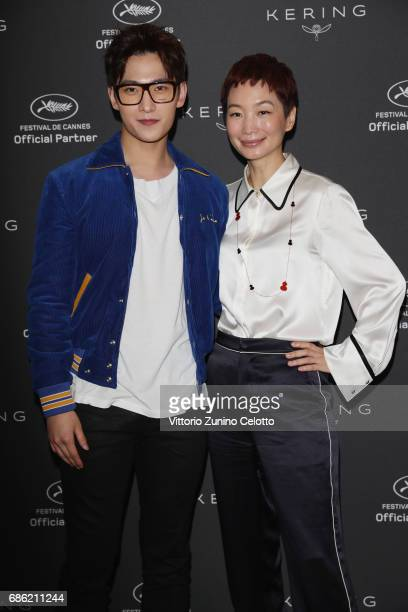 Actor Yang Yang and Xiao Xue attend Kering Talks Women In Motion At The 70th Cannes Film Festival at Hotel Majestic on May 21 2017 in Cannes France
