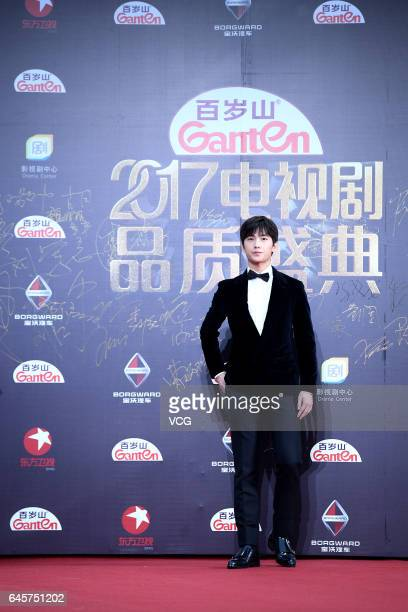 Actor Yang Yang attends the 2017 Chinese Television Series Quality Ceremony held by Dragon TV on February 26 2017 in Shanghai China