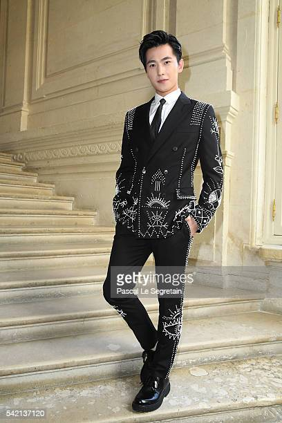 Actor Yang Yang attends the Valentino Menswear Spring/Summer 2017 show as part of Paris Fashion Week on June 22 2016 in Paris France