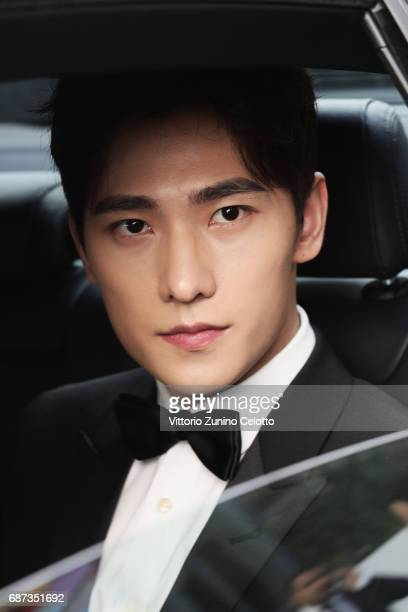 Actor Yang Yang departs Majestic Hotel on May 23 2017 in Cannes France