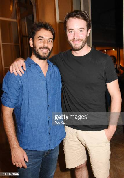 Actor Yaniss Lespert and GeoffreyÊGervais attend Le Jardin L'Experience Party at Le Jardin D'Artois on July 8 2017 in Paris France