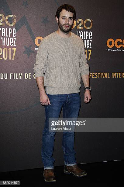 Actor Yaniss Lespert attends 'L'Ascension' photocall during tne 20th L'Alpe D'Huez International Film Festival on January 18 2017 in Alpe d'Huez...