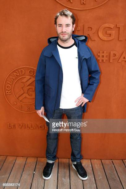 Actor Yaniss Lespert attends the 2017 French Tennis Open Day Eleven at Roland Garros on June 7 2017 in Paris France