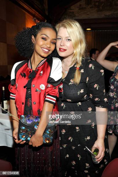 Actor Yara Shahidi and photographer Amanda de Cadenet attend the Coach Rodarte celebration for their Spring 2017 Collaboration at Musso Frank on...