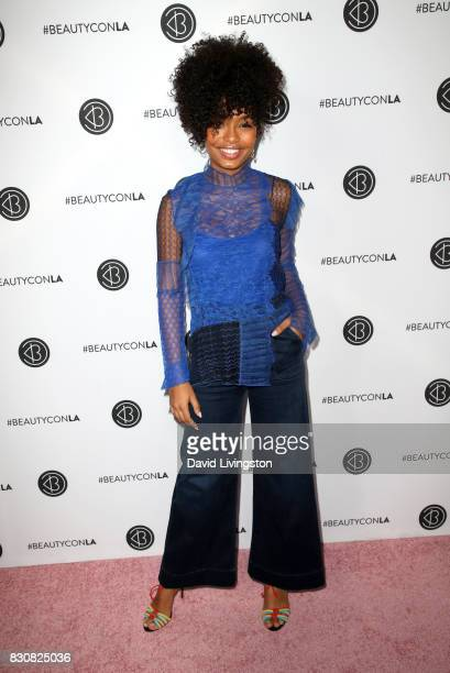 Actor Yara Shahidi attends Day 1 of the 5th Annual Beautycon Festival Los Angeles at the Los Angeles Convention Center on August 12 2017 in Los...