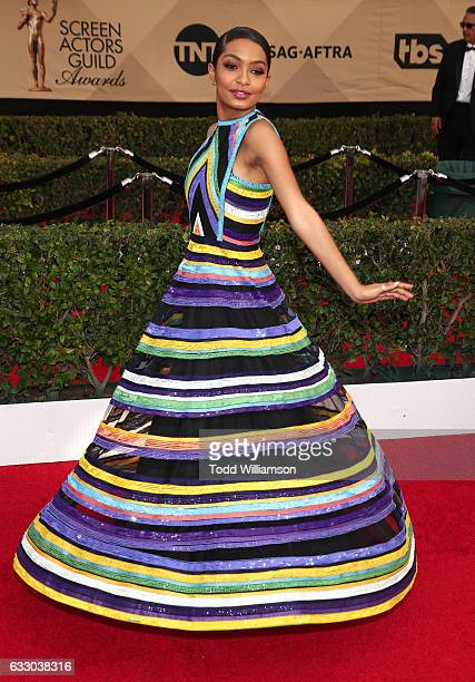 Actor Yara Shahidi attends the 23rd Annual Screen Actors Guild Awards at The Shrine Expo Hall on January 29 2017 in Los Angeles California