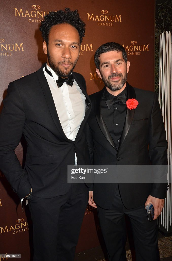 actor Yassine Azzouz and photo director Sofian El Fani attend La Vie D'Adele Palme d'Or Party At The Magnum Cannes Plage - The 66th Annual Cannes Film Festival on May 26, 2013 in Cannes, France.