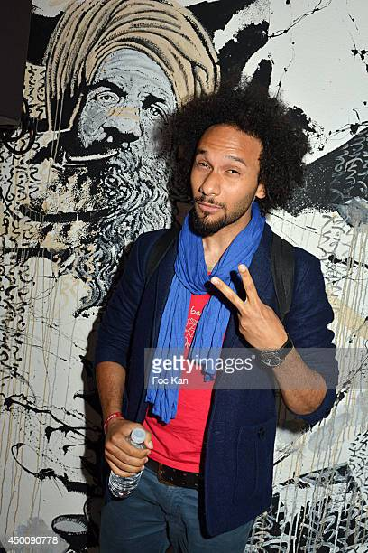 Actor Yassine Azzouz attends the 'Desperados Wild Club Party' At The 25eme Etage Ephemeral Bar Tour Pleyel Saint Denis on June 4 2014 in Paris France