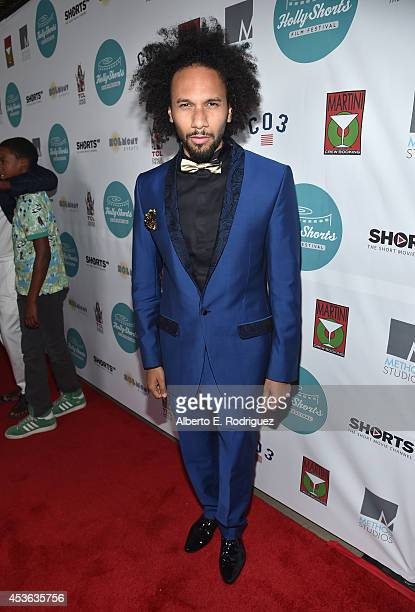 Actor Yassine Azzouz attends the Hollyshorts 10th Anniversary Opening Night at The TCL Chinese Theatres on August 14 2014 in Hollywood California
