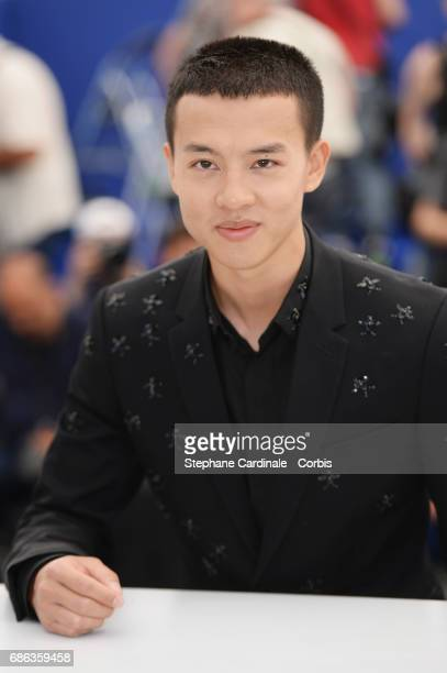Actor Yin Fang attend the 'Walking Past The Future ' photocall during the 70th annual Cannes Film Festival at Palais des Festivals on May 21 2017 in...