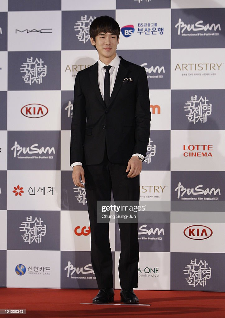 Actor Yoo Yeon-Suk arrives for the closing ceremony during the 17th Busan International Film Festival (BIFF) at the Busan Cinema Center on October 13, 2012 in Busan, South Korea. The biggest film festival in Asia showcases 304 films from 75 countries and runs from October 4-13.