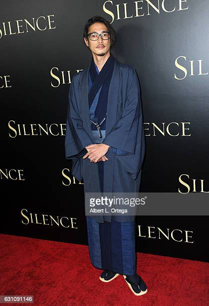 Actor Yosuke Kubozuka arrives for the Premiere Of Paramount Pictures' 'Silence' held at Directors Guild Of America on January 5 2017 in Los Angeles...