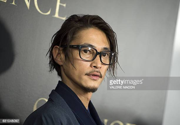 Actor Yosuke Kubozuka attends the Los Angeles Premiere of Paramount Pictures 'Silence' at the Directors Guild of America on January 5 in Los Angeles...