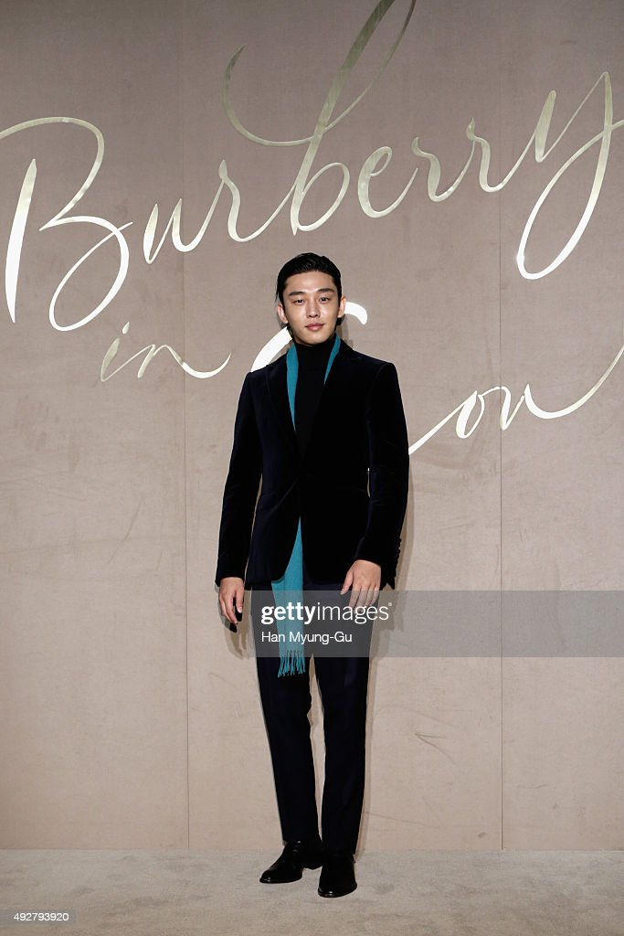 Actor Yu Ah In attends the Burberry Seoul Flagship Store Opening Event on October 15 2015 in Seoul South Korea