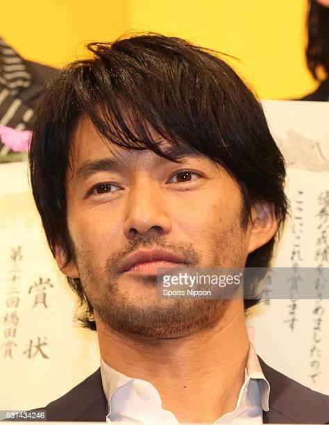 Actor Yutaka Takenouchi attends the 22nd Hashida Award Ceremony on May 12 2014 in Tokyo Japan