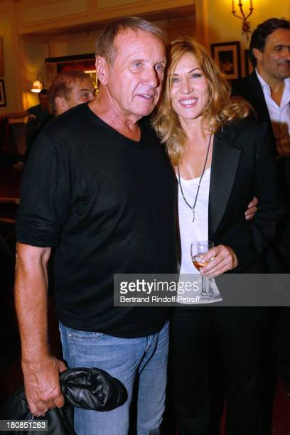 Actor Yves Renier and actress Mathilde Seigner after 'Nina' Premiere at Theatre Edouard VII on September 16 2013 in Paris France