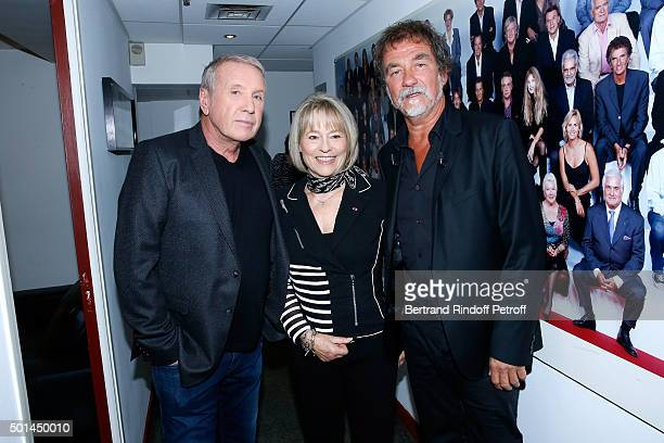 Actor Yves Renier Martine Monteil who presents her book 'Flic tout simplement' and Main Guest of the Show actor Olivier Marchal attend the 'Vivement...