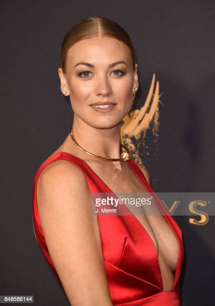 Actor Yvonne Strahovski attends the 69th Annual Primetime Emmy Awards at Microsoft Theater on September 17 2017 in Los Angeles California