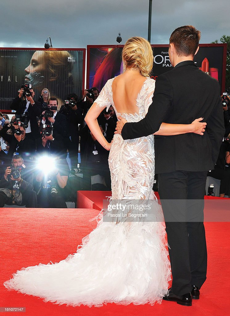 Actor Zac Efron and actress Maika Monroe attend the 'At Any Price' premiere during the 69th Venice Film Festival at the Palazzo del Cinema on August 31, 2012 in Venice, Italy.