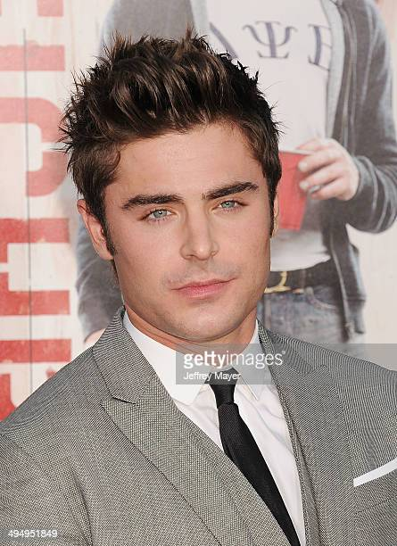 Actor Zac Efron arrives at the Los Angeles premiere of 'Neighbors' at Regency Village Theatre on April 28 2014 in Westwood California