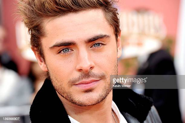 Actor Zac Efron arrives at the premiere of Universal Pictures and Illumination Entertainment's 3DCG 'Dr Seuss' The Lorax' at Citywalk on February 19...
