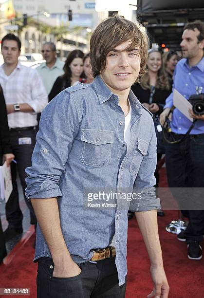 Actor Zac Efron arrives at the premiere of Warner Bros Pictures' 'Hangover' at the Chinese Theater on June 2 2009 in Los Angeles California