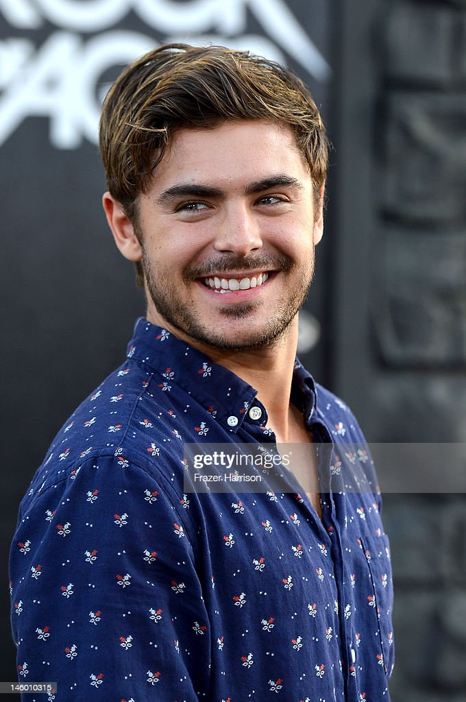 Actor Zac Efron arrives at the premiere of Warner Bros. Pictures' 'Rock of Ages' at Grauman's Chinese Theatre on June 8, 2012 in Hollywood, California.