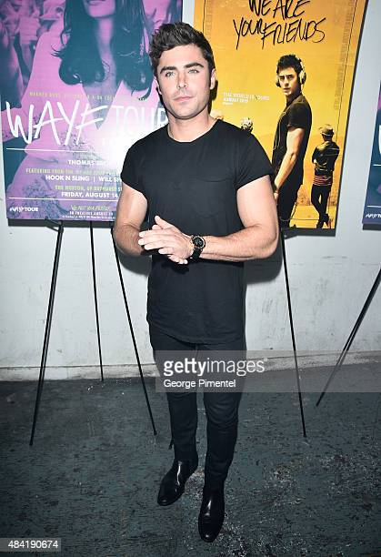 Actor Zac Efron attend the 'We Are Your Friends' afterparty at The Hoxton on August 14 2015 in Toronto Canada