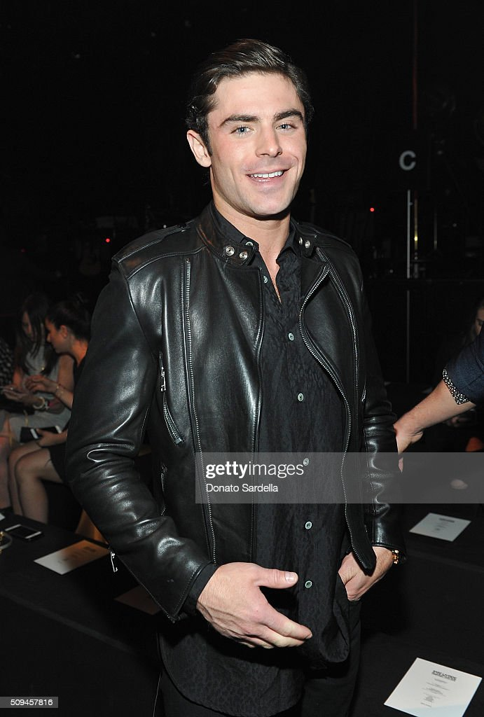 Actor Zac Efron attends Saint Laurent at the Palladium on February 10, 2016 in Los Angeles, California for the Saint Laurent Los Angeles show.