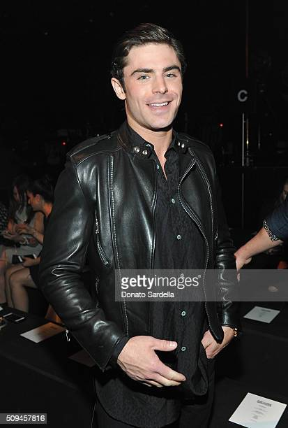 Actor Zac Efron attends Saint Laurent at the Palladium on February 10 2016 in Los Angeles California for the Saint Laurent Los Angeles show