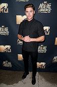 Actor Zac Efron attends the 2016 MTV Movie Awards at Warner Bros Studios on April 9 2016 in Burbank California MTV Movie Awards airs April 10 2016 at...
