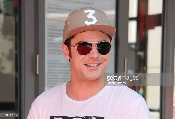 Actor Zac Efron attends the 'Baywatch' SlowMo Marathon at Microsoft Square on April 22 2017 in Los Angeles California