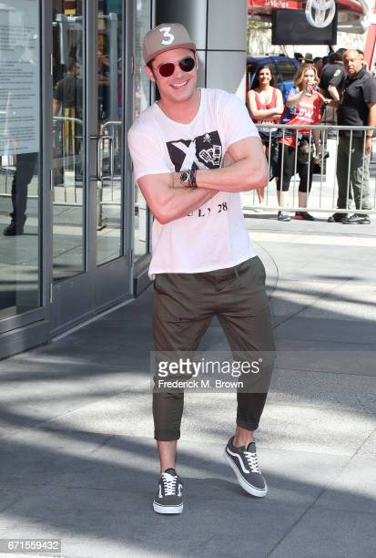 Actor Zac Efron attends The 'Baywatch' SlowMo Marathon at the Microsoft Square on April 22 2017 in Los Angeles California
