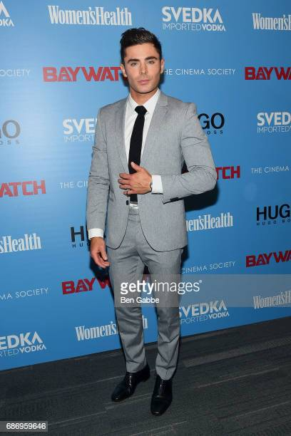 Actor Zac Efron attends The Cinema Society Screening of 'Baywatch' at Landmark Sunshine Cinema on May 22 2017 in New York City