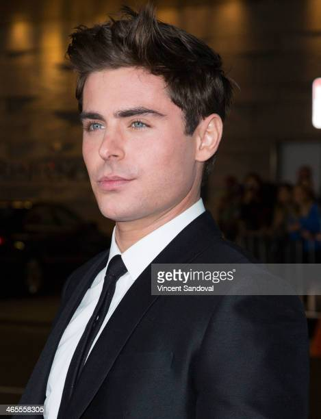 Actor Zac Efron attends the Los Angeles Premiere of 'That Awkward Moment' at Regal Cinemas LA Live on January 27 2014 in Los Angeles California