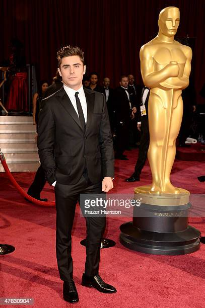 Actor Zac Efron attends the Oscars held at Hollywood Highland Center on March 2 2014 in Hollywood California