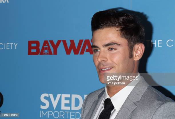 Actor Zac Efron attends the screening of 'Baywatch' hosted by The Cinema Society at Landmark Sunshine Cinema on May 22 2017 in New York City