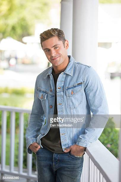 Actor Zac Efron is photographed for USA Today on April 30 2016 on the back lot of Universal Studios in Los Angeles California PUBLISHED IMAGE