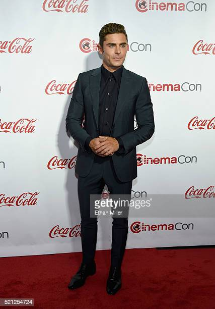 Actor Zac Efron one of the recipients of the Comedy Stars of the Year Award attends the CinemaCon Big Screen Achievement Awards brought to you by the...
