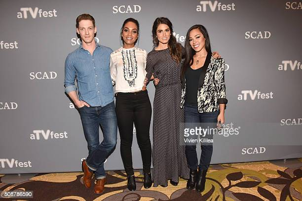 Actor Zach Appelman Actor Lyndie Greenwood Actor Nikki Reed and Actor Jessica Camacho attend the 'Sleepy Hollow' event during aTVfest 2016 presented...