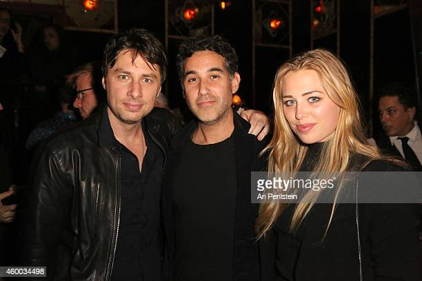 Actor Zach Braff and guests attend the CAKE party for Jennifer Aniston hosted by PerrierJouet And Cinelou Films at Chateau Marmont's Bar Marmont on...