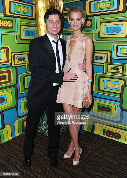 Actor Zach Braff and Taylor Bagley HBO's Post 2011 Golden Globe Awards Party held at The Beverly Hilton hotel on January 16 2011 in Beverly Hills...