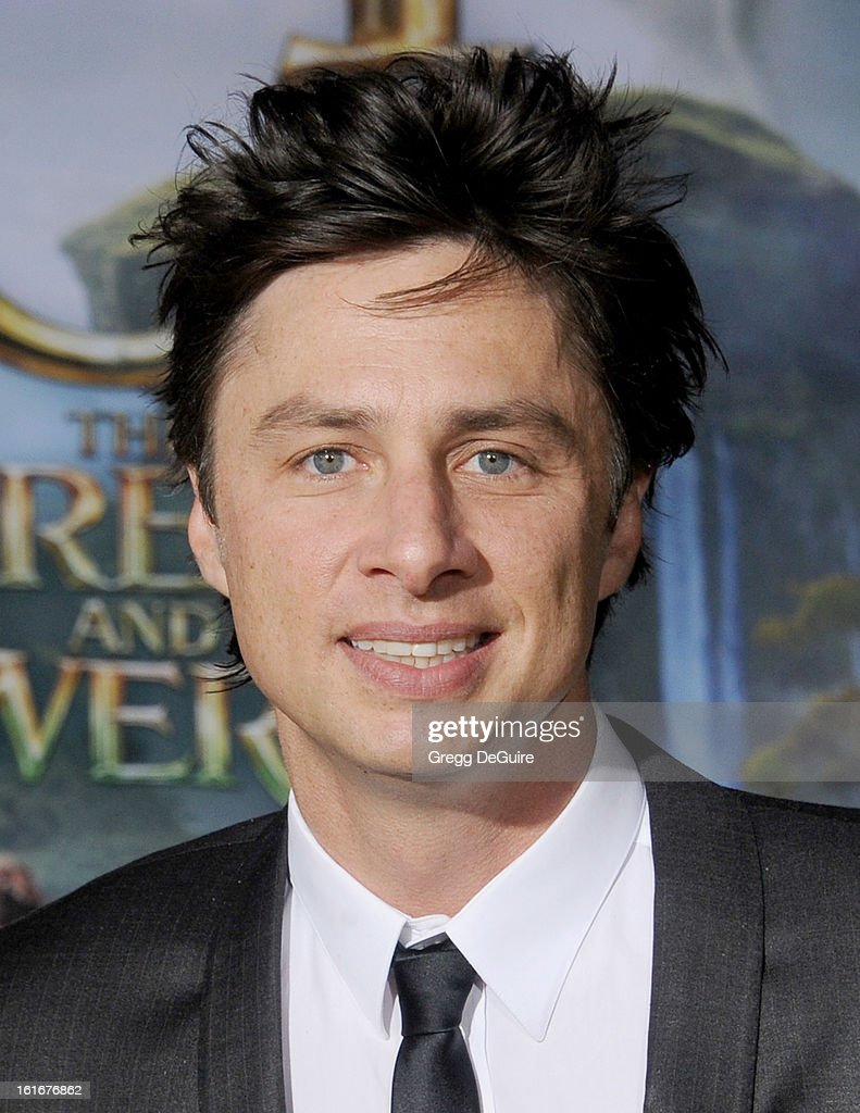 Actor Zach Braff arrives at the Los Angeles premiere of 'Oz The Great and Powerful' at the El Capitan Theatre on February 13, 2013 in Hollywood, California.