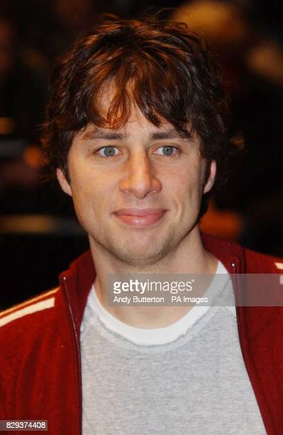 Actor Zach Braff arrives for the screening of his latest film Garden State held at the Odeon West End cinema central London part of the London Film...