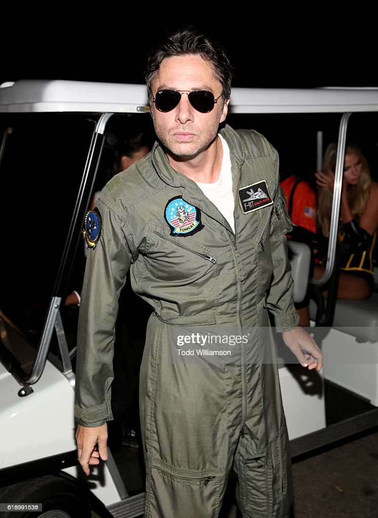 Actor Zach Braff arrives to the Casamigos Halloween Party at a private residence on October 28, 2016 in Beverly Hills, California.