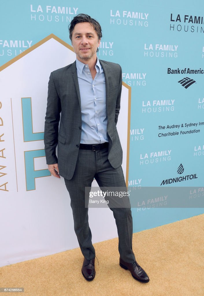 Actor Zach Braff attends LA Family Housing 2017 awards at The Lot on April 27, 2017 in West Hollywood, California.