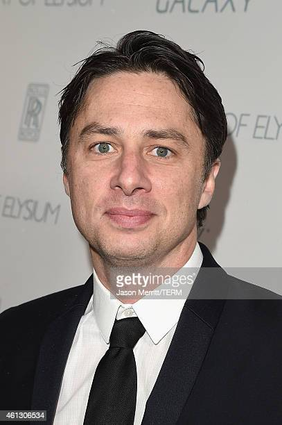 Actor Zach Braff attends the 8th Annual HEAVEN Gala presented by Art of Elysium and Samsung Galaxy at Hangar 8 on January 10 2015 in Los Angeles...