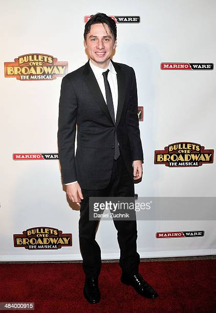 Actor Zach Braff attends the 'Bullets Over Broadway' opening night celebration at The Metropolitan Museum on April 10 2014 in New York City