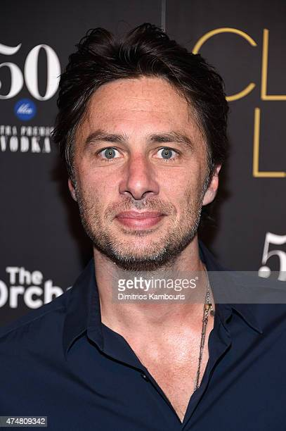 Actor Zach Braff attends the 'Club Life' New York Screening at Regal Cinemas Union Square on May 26 2015 in New York City