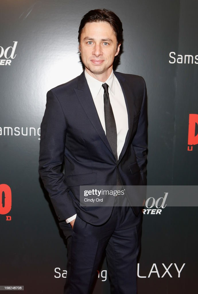 Actor Zach Braff attends the Django Unchained NY premiere at Ziegfeld Theatre on December 11, 2012 in New York City.